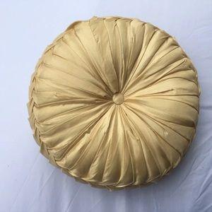 Midcentury Vintage Round pleated decorative Pillow